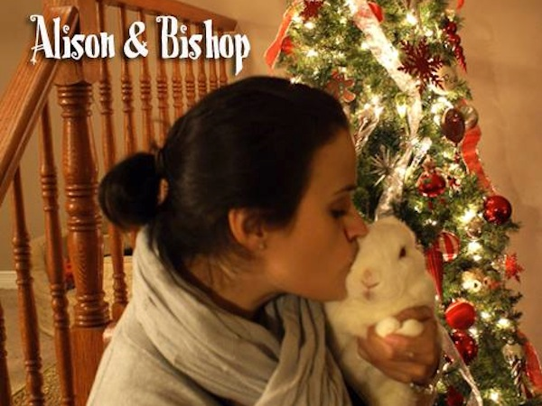 Alison and Bishop the bunny