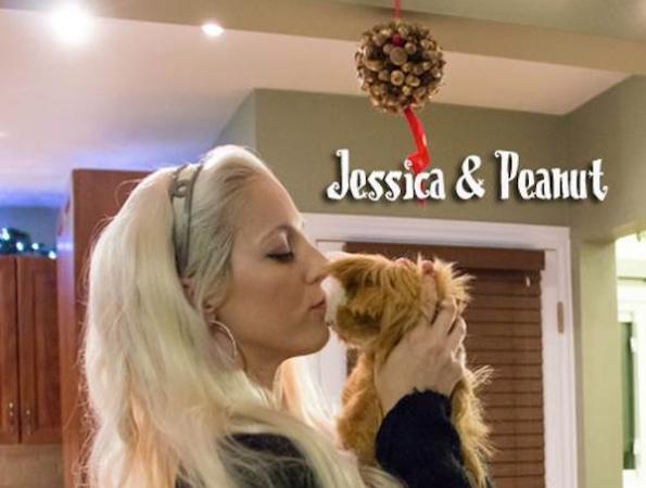 Jessica and Peanut the guinea pig